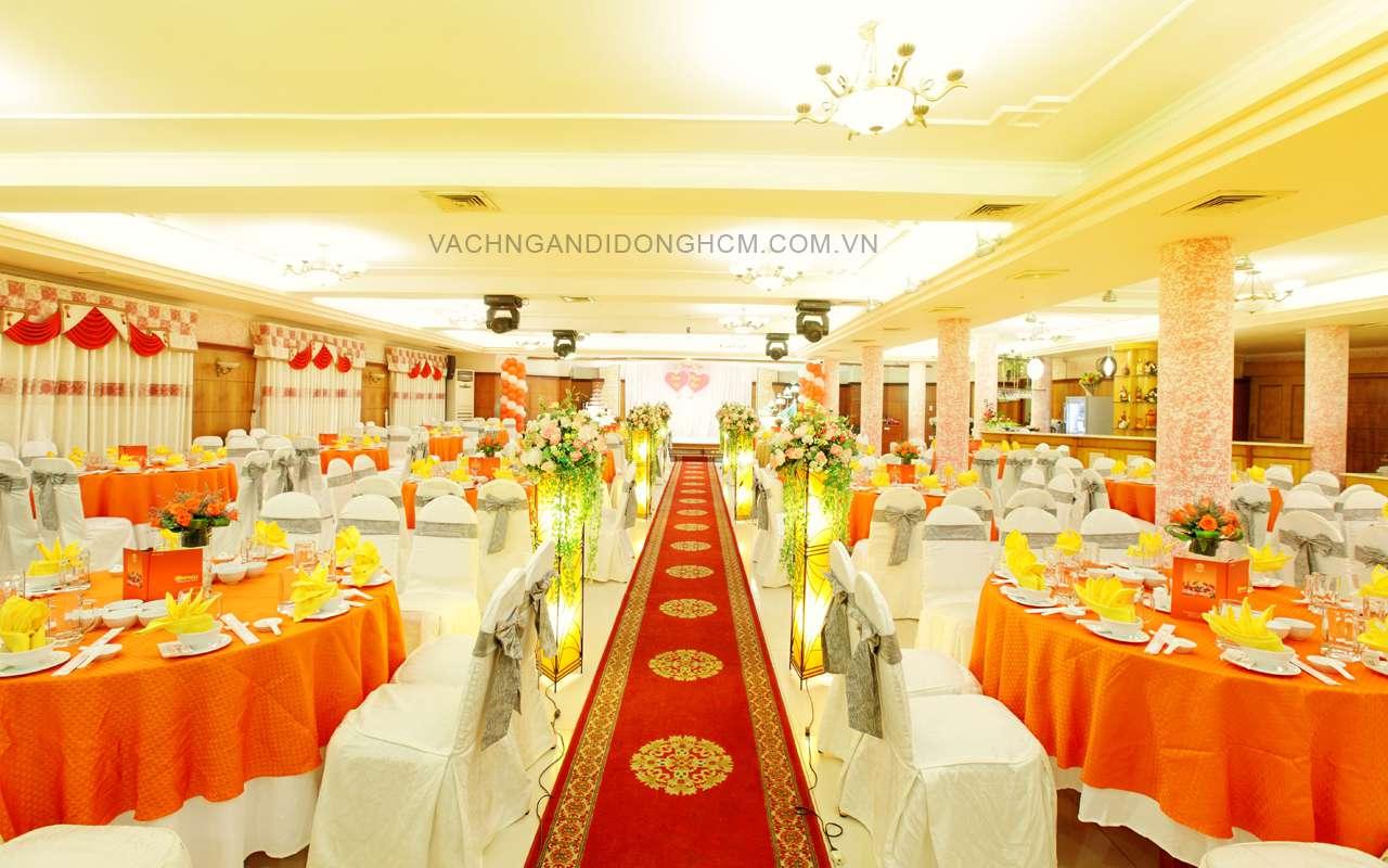 Thi công lắp đặt vách ngăn di động nhà hàng tiệc cưới Đồng Khánh, Q5